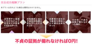 【理由②】依頼された情報が何も取れなければ0円プラン
